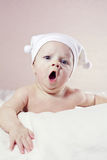 Little baby yawning Royalty Free Stock Images