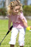 Little badminton player Royalty Free Stock Image