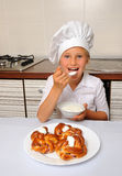 Little baker Stock Photography