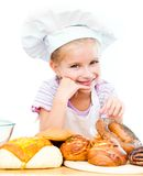 Little baker. On a white background Royalty Free Stock Image
