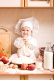 Little baker Royalty Free Stock Photos