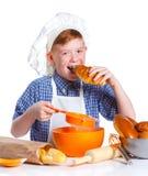 Little baker boy Royalty Free Stock Photos