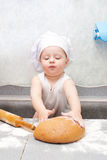 Little baker or cook boy stock photography