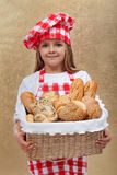 Little baker girl Royalty Free Stock Photo
