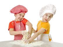 Little bakers Stock Images