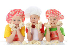 Little bakers Royalty Free Stock Images