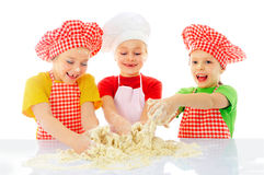 Little bakers stock photos