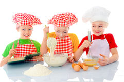 Little bakers Royalty Free Stock Photography