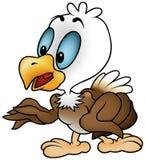 Little Bald Eagle. Colored cartoon illustration vector illustration