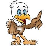 Little Bald Eagle. Colored cartoon illustration, vector Stock Photo