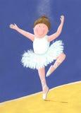 Little ballerina. Acrylic illustration of cute little ballerina Stock Images