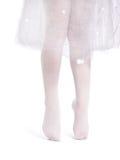 Little ballerina. Little girl practicing ballet.  on white Stock Image