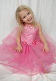 Little Ballerina. Beatiful little blond ballerina girl royalty free stock photo