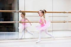 Little ballerina at ballet class Stock Images