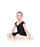 Little ballerina crying. From exhaustion Royalty Free Stock Image