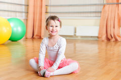Little ballerina dance Royalty Free Stock Photography
