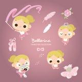 Little Ballerina Dancing stock illustration