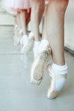 Little ballerina feet Royalty Free Stock Images