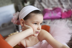 Little ballerina girl Stock Images