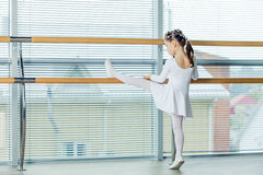 Little ballerina girl. Adorable child dancing classical ballet i Stock Photo