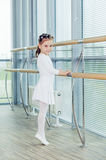 Little ballerina girl. Adorable child dancing classical ballet i Royalty Free Stock Images