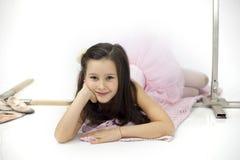 Little ballerina girl Royalty Free Stock Images