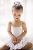 Little ballerina girl 2 years in the Studio Royalty Free Stock Photos