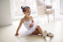 Little ballerina girl 2 years in the Studio Stock Photo