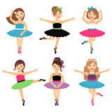 Little ballerina girls set Stock Image