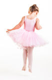 Little Ballerina Jumps Royalty Free Stock Image