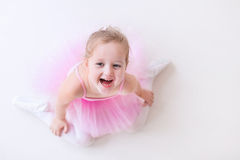 Little ballerina in pink tutu Royalty Free Stock Photos