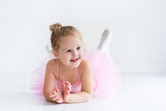 Little ballerina in pink tutu Royalty Free Stock Images