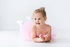 Little ballerina in pink tutu Stock Photos