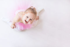 Little ballerina in pink tutu Stock Photos