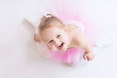 Little ballerina in pink tutu Royalty Free Stock Image