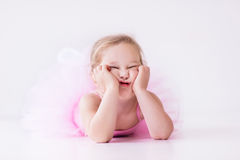 Little ballerina in pink tutu Royalty Free Stock Photography