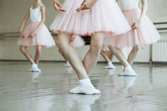 Little ballerina`s feet stock photos