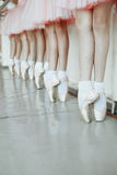 Little ballerina`s feet stock photo