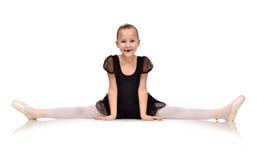 Little ballerina sat on the twine Royalty Free Stock Image