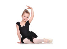 Little ballerina sitting Royalty Free Stock Image