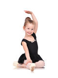 Little ballerina sitting Royalty Free Stock Images