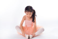 Little ballerina in the studio Royalty Free Stock Image