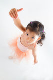 Little ballerina in the studio Stock Images