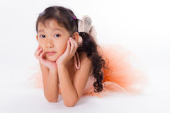 Little ballerina in the studio Royalty Free Stock Images