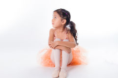 Little ballerina in the studio Stock Photo