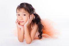 Little ballerina in the studio Royalty Free Stock Photo