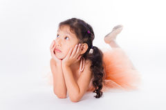 Little ballerina in the studio Royalty Free Stock Photos