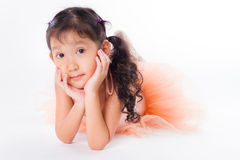 Little ballerina in the studio Royalty Free Stock Photos