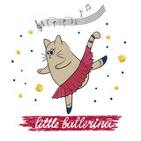 Little ballerina vector illustration Royalty Free Stock Photography