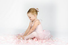 A Little Ballerina Warms Up royalty free stock images